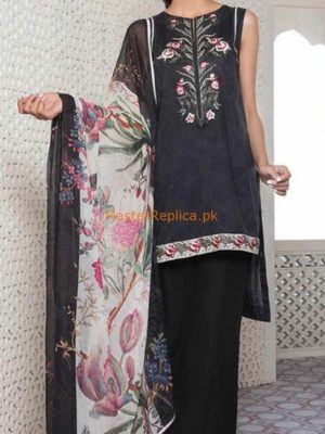 Sapphire Luxury Embroidered Lawn Collection 2018 Replica