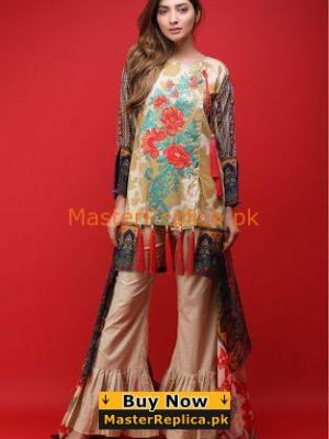 Warda Luxury Embroidered Lawn Collection Replica