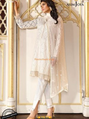 ASIM JOFA Latest AJL18-01A Embroidered Lawn Collection Replica