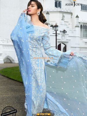 ASIM JOFA Latest AJL18-01B Embroidered Lawn Collection Replica