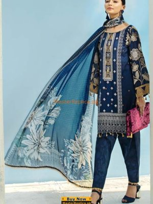 AUJ Latest Design 12 Embroidered Lawn Collection Replica 2018