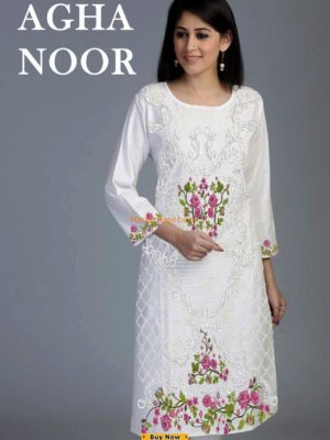 Agha Noor inspired Kurti Latest Replica 2018 Collection