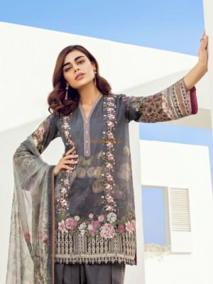 Baroque Latest Oxalis Embroidered Lawn Collection Replica