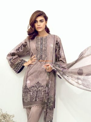 BAROQUE Latest Periwinkle Glory Embroidered Lawn Collection Replica