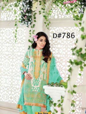 Gul Ahmed Latest D-786 Lawn Collection Replica 2018
