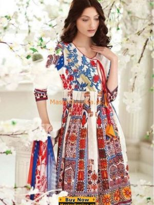 GUL AHMED Latest 144-A Embroidered Lawn Collection Replica
