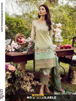 IZNIK Latest Lawn Embroidered Collection Replica 2018