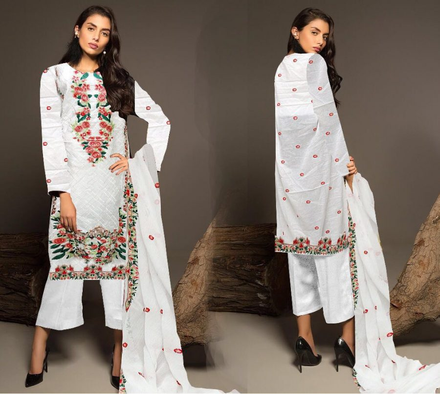 Khaadi Latest Embroidered Lawn Replica