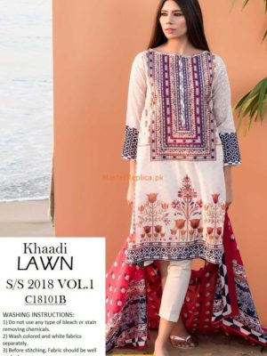 Khaadi Latest C1810B Embroidered Lawn Collection Replica