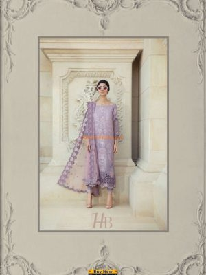 Maria B.Latest D-14-B Embroidered Lawn Collection Replica 2018
