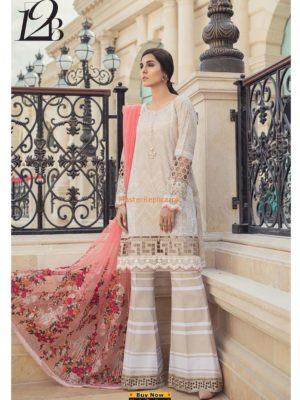 Maria B.Latest D-12B Embroidered Lawn Collection Replica