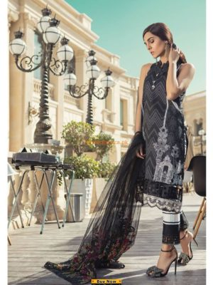 MARIA B Latest D-12 A Embroidered Lawn Collection Replica