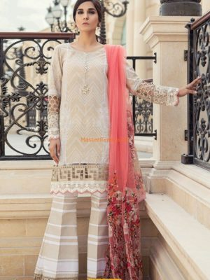 Maria B latest Embroidered D-1812-B Lawn Collection Replica