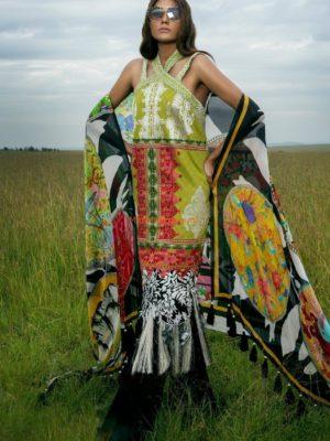Sana Safinaz Latest MAR18-14A Lawn Collection Replica