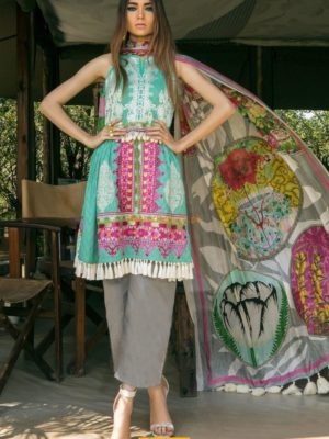 Sana Safinaz MAR18-14B Embroidered Lawn Collection Replica