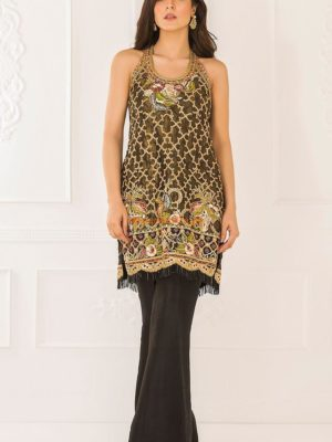 TEENA Durrani Luxury Embroidered Chiffon Collection Replica