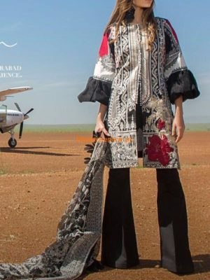 SANA SAFINAZ Latest Embroidered 4-A Lawn Collection Replica