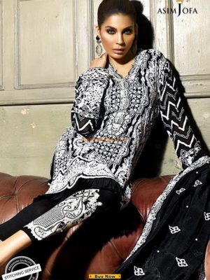 Asim Jofa Latest AJ-01B Embroidered Chiffon Collection replica