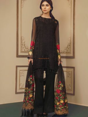 Baroque Latest A Beautiful Desire Embroidered Chiffon Collection Replica