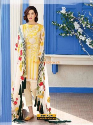 Charizma Luxury Embroidered Lawn Collection 2018 Replica