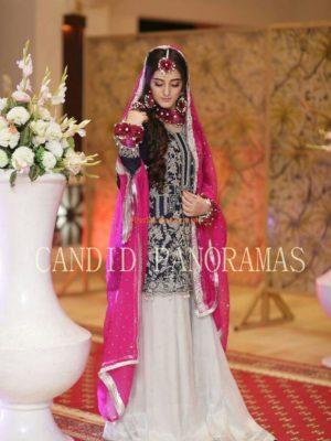 FARAZ MANAN Latest Bridal Embroidered Chiffon Collection Replica