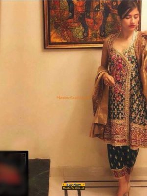 Farah Talib Luxury Embroidered Chiffon Collection Replica