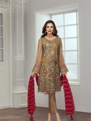 Jazmin Luxury Embroidered Cascabel Chiffon Collection Replica