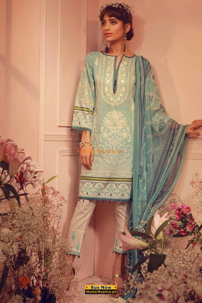 KHAADI Luxury K18206 Embroidered Lawn Collection Replica