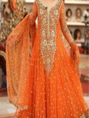 Kashees Luxury Embroidered Net Bridal Collection Replica 2018