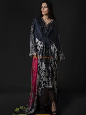 Maria B. Latest MSK-08-Black Silk Collection Replica