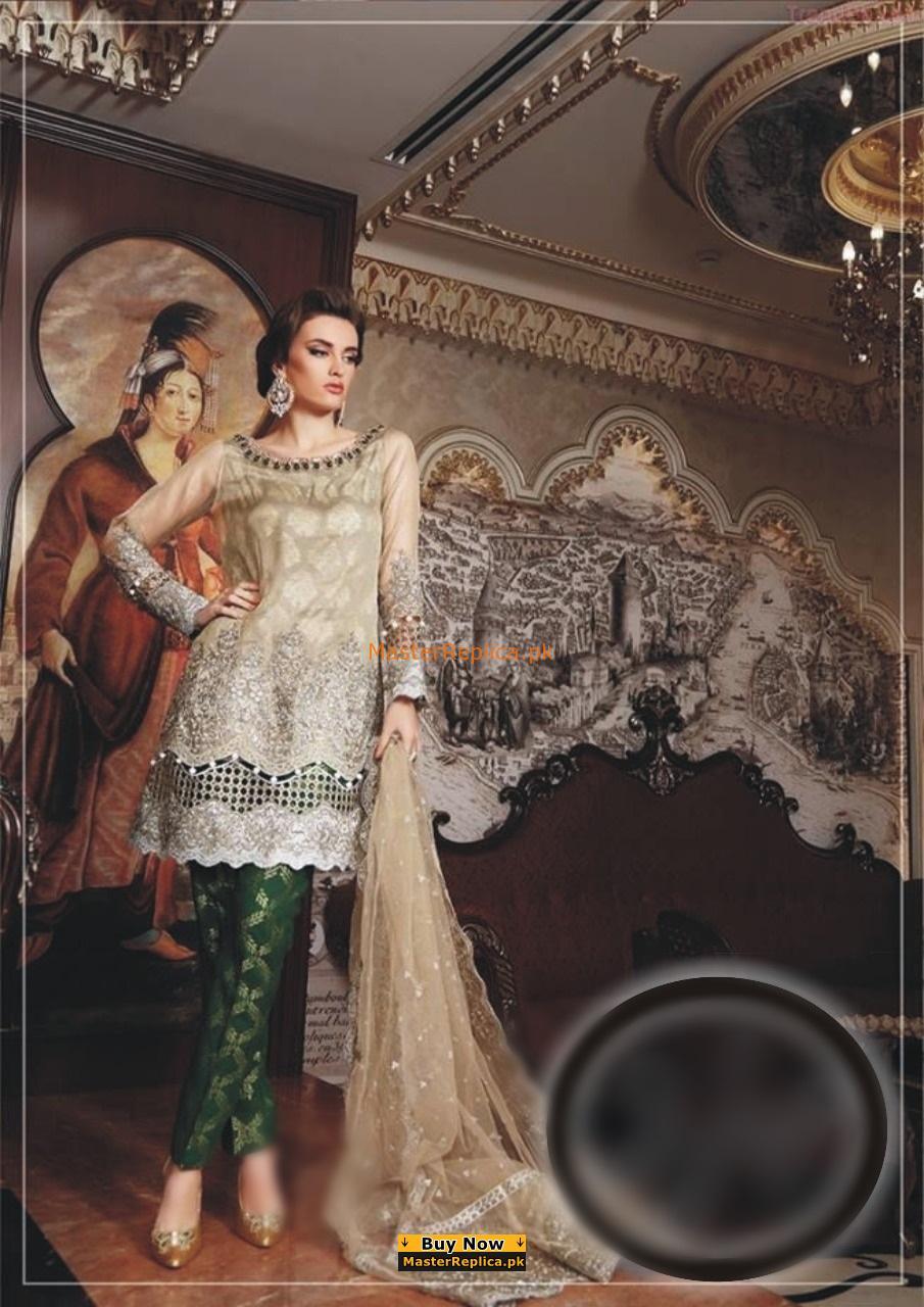 e8930e461b Maria B Luxury Embroidered Net Collection Replica 2018