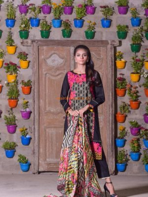 OAKS Luxury Embroidered Lawn Collection Replica 2018