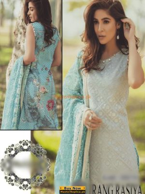 RANG RASYA Latest Embroidered Swiss Voile Collection Replica 2018