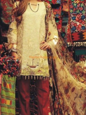 RUNG REZ Luxury Embroidered Lawn Collection Replica