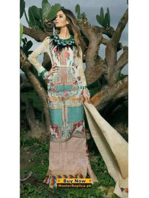 SANA SAFINAZ Latest 02B Embroidered Lawn Collection Replica