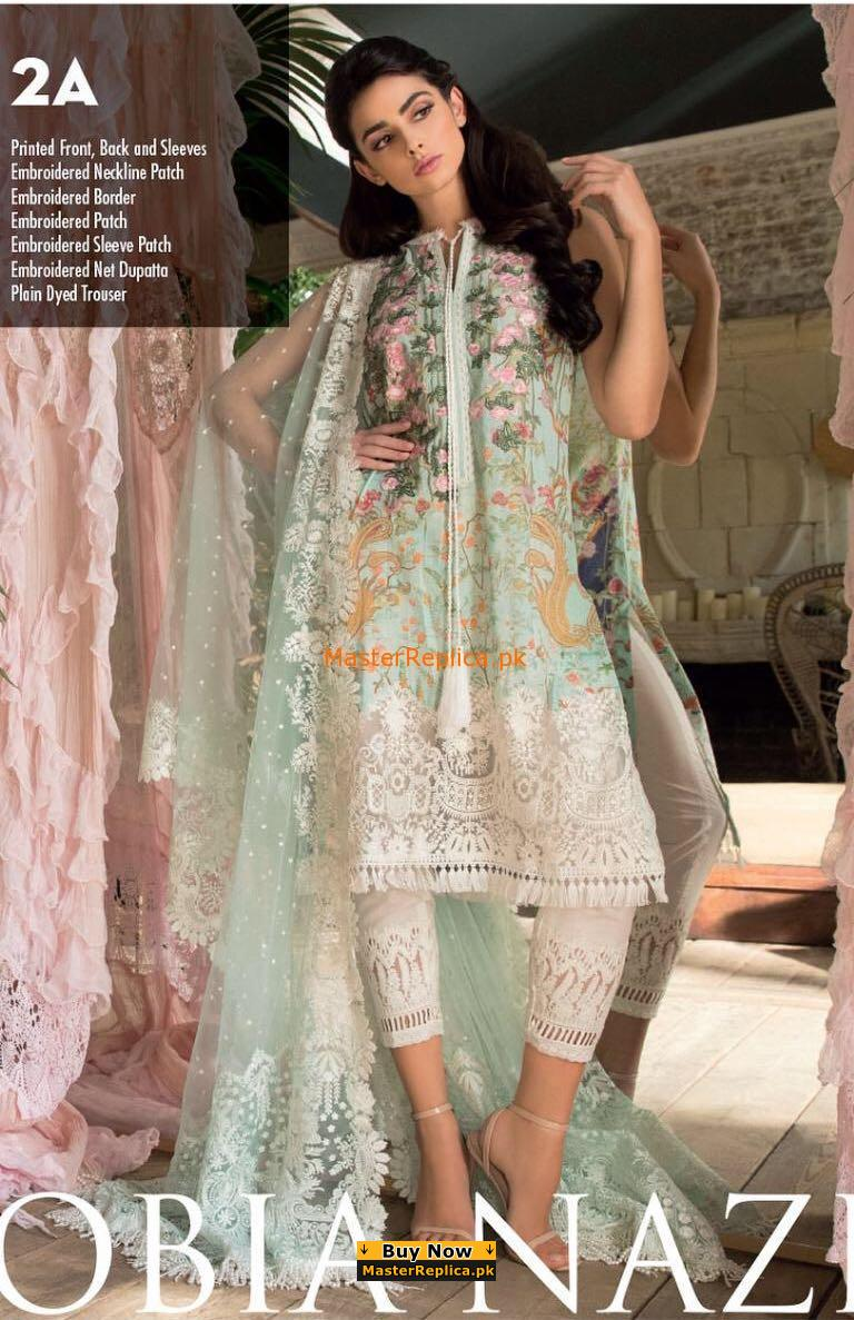 Sobia Nazir Latest 2A Embroidered Lawn CoSobia Nazir Latest 2A Embroidered Lawn Collection Replicallection Replica