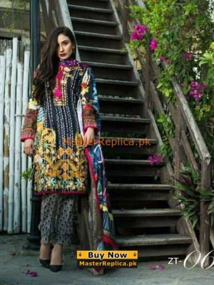 Latest Embroidered Lawn Collection 2018 Dress