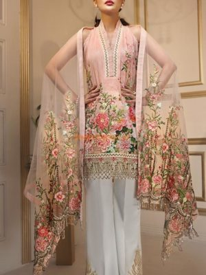 ANAYA CHAUDRY Luxury Summer Garden Embroidered Chiffon Collection Replica