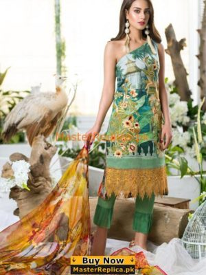 ASIFA & NABEEL Latest 12A – Chandeliers of Fire Embroidered Lawn Collection Replica