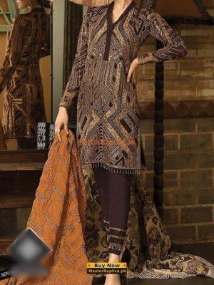 ASIM JOFA Luxury AJ03B Embroidered Chiffon Collection Replica