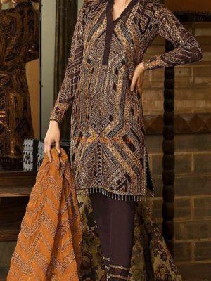 Asim Jofa Latest AJ03B Embroidered Chiffon Collection Replica