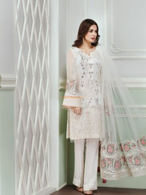 Jazmin Latest Daisy Trellis Embroidered Chiffon Collection Replica