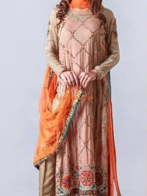 DESIGNER Luxury Embroidered Chiffon Eid Collection Replica