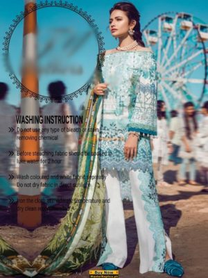Master Latest Embrodiered Lawn Eid Collection Replica