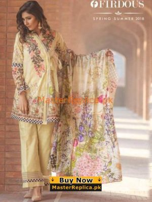 FIRDOUS Latest EXC-16 Chic Fantasy Embroidered Lawn Collection Replica