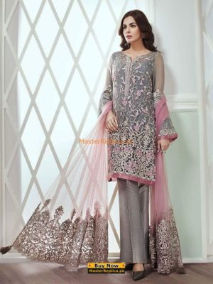 JAZMINE Luxury Bevy of Flowers Embroidered Lawn Collection Replica
