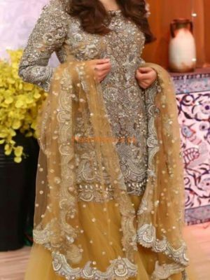 KASHEES Latest Embroidered Bridal Net Collection Replica