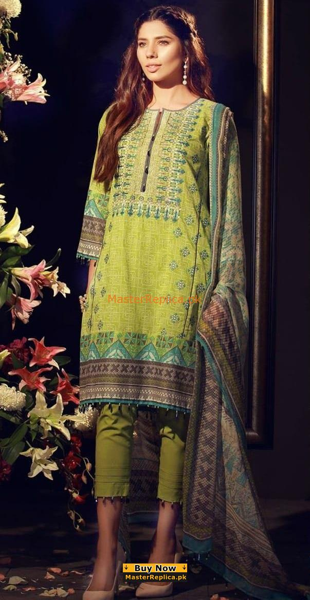 KHAADI Latest Embrioidered Lawn Eid Collection Replica