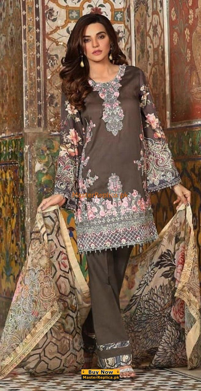 Khaadi Latest Embroidered Summer Lawn Collection Replica 2018