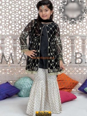 MARIA B Luxury Kids Embroidered Net Eid Collection Replica